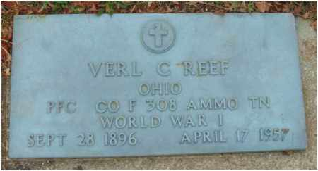 REEF, VERL C. - Fairfield County, Ohio   VERL C. REEF - Ohio Gravestone Photos