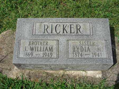 RICKER, LYDIA M. - Fairfield County, Ohio   LYDIA M. RICKER - Ohio Gravestone Photos