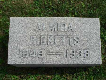 RICKETTS, ALMIRA - Fairfield County, Ohio | ALMIRA RICKETTS - Ohio Gravestone Photos