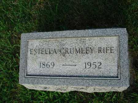 CRUMLEY RIFE, ESTELLA - Fairfield County, Ohio | ESTELLA CRUMLEY RIFE - Ohio Gravestone Photos