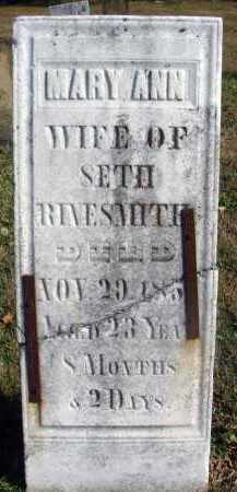WEIMER RINESMITH, MARY ANN - Fairfield County, Ohio | MARY ANN WEIMER RINESMITH - Ohio Gravestone Photos
