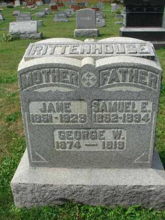 RITTENHOUSE, GEORGE W. - Fairfield County, Ohio | GEORGE W. RITTENHOUSE - Ohio Gravestone Photos
