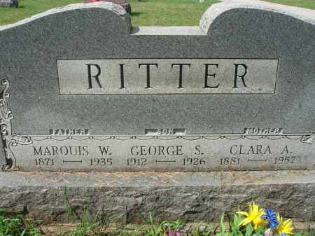 RITTER, GEORGE S. - Fairfield County, Ohio | GEORGE S. RITTER - Ohio Gravestone Photos