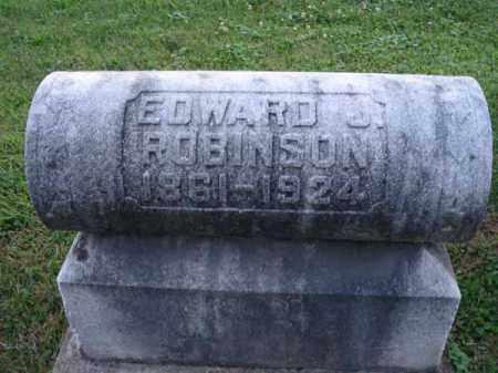 ROBINSON, EDWARD J. - Fairfield County, Ohio | EDWARD J. ROBINSON - Ohio Gravestone Photos
