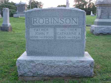 ROBINSON, JOHN F. - Fairfield County, Ohio | JOHN F. ROBINSON - Ohio Gravestone Photos