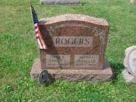 ROGERS, ISABELLE - Fairfield County, Ohio | ISABELLE ROGERS - Ohio Gravestone Photos