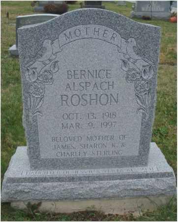 ROSHON, BERNICE - Fairfield County, Ohio | BERNICE ROSHON - Ohio Gravestone Photos