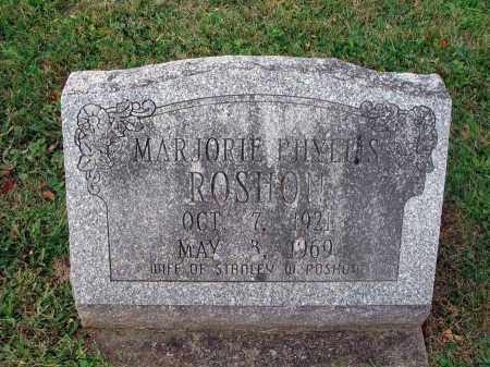 ROSHON, MARJORIE PHYLLIS - Fairfield County, Ohio   MARJORIE PHYLLIS ROSHON - Ohio Gravestone Photos