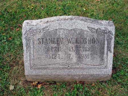 ROSHON, STANLEY W. - Fairfield County, Ohio | STANLEY W. ROSHON - Ohio Gravestone Photos