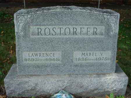 ROSTORFER, LAWRENCE - Fairfield County, Ohio | LAWRENCE ROSTORFER - Ohio Gravestone Photos