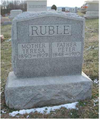 RUBLE, PETER - Fairfield County, Ohio | PETER RUBLE - Ohio Gravestone Photos