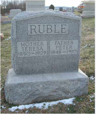 HUFF RUBLE, TERESA - Fairfield County, Ohio | TERESA HUFF RUBLE - Ohio Gravestone Photos