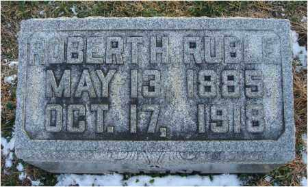 RUBLE, ROBERT H. - Fairfield County, Ohio | ROBERT H. RUBLE - Ohio Gravestone Photos