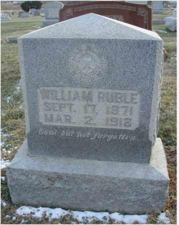 RUBLE, WILLIAM - Fairfield County, Ohio | WILLIAM RUBLE - Ohio Gravestone Photos