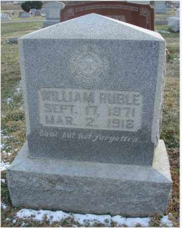 RUBLE, WILLIAM - Fairfield County, Ohio   WILLIAM RUBLE - Ohio Gravestone Photos