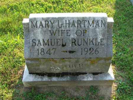 RUNKLE, MARY L. - Fairfield County, Ohio | MARY L. RUNKLE - Ohio Gravestone Photos