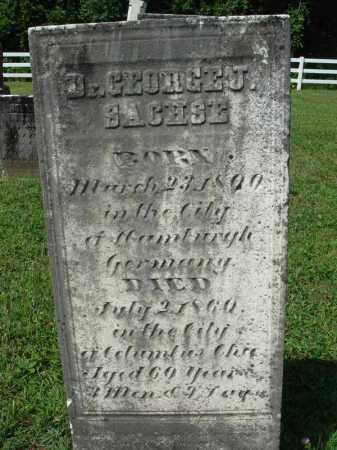SACHSE, GEORGE J. - Fairfield County, Ohio | GEORGE J. SACHSE - Ohio Gravestone Photos