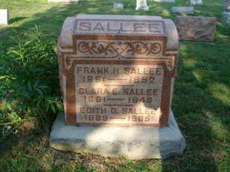 SALLEE, FRANK H. - Fairfield County, Ohio | FRANK H. SALLEE - Ohio Gravestone Photos