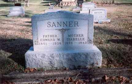 SANNER, EDWARD W. - Fairfield County, Ohio   EDWARD W. SANNER - Ohio Gravestone Photos