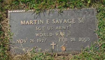 SAVAGE, MARTIN E. SR - Fairfield County, Ohio | MARTIN E. SR SAVAGE - Ohio Gravestone Photos