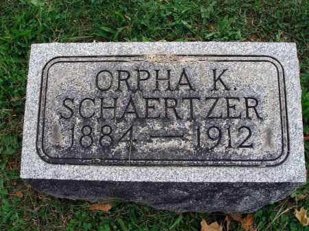 SCHAERTZER, ORPHA K. - Fairfield County, Ohio   ORPHA K. SCHAERTZER - Ohio Gravestone Photos