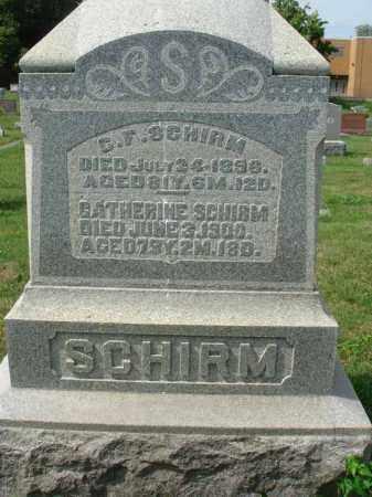 SCHIRM, C. F. - Fairfield County, Ohio | C. F. SCHIRM - Ohio Gravestone Photos