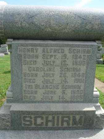 SCHIRM, CAROLINE - Fairfield County, Ohio | CAROLINE SCHIRM - Ohio Gravestone Photos