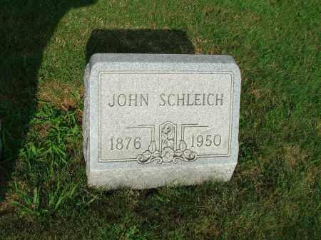 SCHLEICH, JOHN - Fairfield County, Ohio | JOHN SCHLEICH - Ohio Gravestone Photos