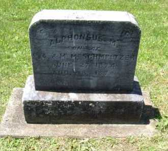 SCHMELTZER, ALPHONSO - Fairfield County, Ohio | ALPHONSO SCHMELTZER - Ohio Gravestone Photos