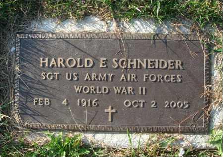 SCHNEIDER, HAROLD E. - Fairfield County, Ohio   HAROLD E. SCHNEIDER - Ohio Gravestone Photos