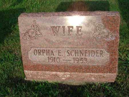 SCHNEIDER, ORPHA E. - Fairfield County, Ohio   ORPHA E. SCHNEIDER - Ohio Gravestone Photos