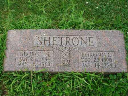 SHETRONE, FORONO C. - Fairfield County, Ohio   FORONO C. SHETRONE - Ohio Gravestone Photos
