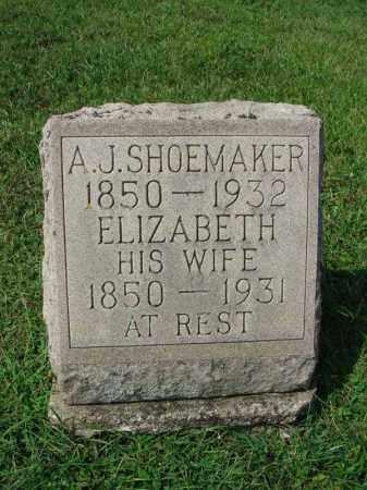 SHOEMAKER, A.J. - Fairfield County, Ohio | A.J. SHOEMAKER - Ohio Gravestone Photos