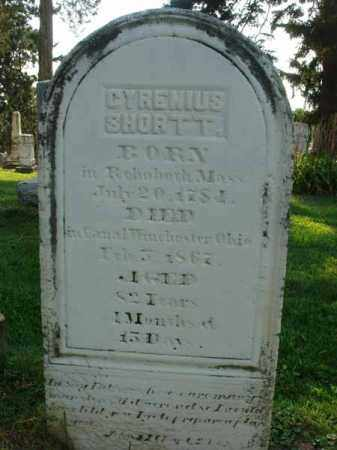SHORTT, CYRENIUS - Fairfield County, Ohio | CYRENIUS SHORTT - Ohio Gravestone Photos