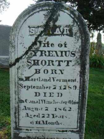 SHORTT, SARAH - Fairfield County, Ohio   SARAH SHORTT - Ohio Gravestone Photos