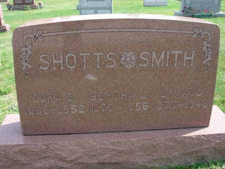 SHOTTSSMITH, L. MAUD - Fairfield County, Ohio | L. MAUD SHOTTSSMITH - Ohio Gravestone Photos