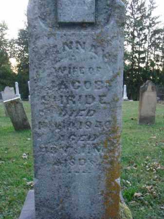 SHRIDE, HANNAH - Fairfield County, Ohio | HANNAH SHRIDE - Ohio Gravestone Photos