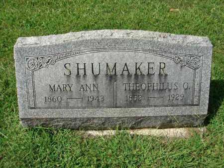 SHUMAKER, MARY ANN - Fairfield County, Ohio | MARY ANN SHUMAKER - Ohio Gravestone Photos