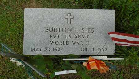 SIES, BURTON L. - Fairfield County, Ohio | BURTON L. SIES - Ohio Gravestone Photos