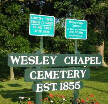 SIGN, WESLEY CHAPEL CEMETERY - Fairfield County, Ohio | WESLEY CHAPEL CEMETERY SIGN - Ohio Gravestone Photos