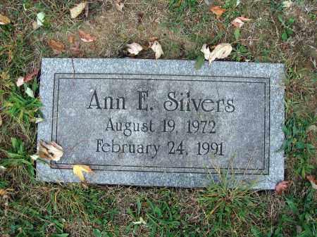 SILVERS, ANN E. - Fairfield County, Ohio   ANN E. SILVERS - Ohio Gravestone Photos