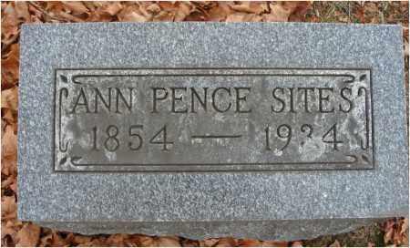 SITES, ANN - Fairfield County, Ohio | ANN SITES - Ohio Gravestone Photos