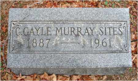 MURRAY SITES, C. GAYLE - Fairfield County, Ohio | C. GAYLE MURRAY SITES - Ohio Gravestone Photos