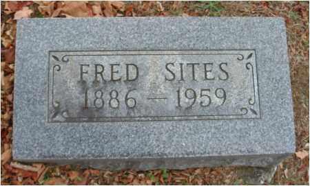 SITES, FRED - Fairfield County, Ohio | FRED SITES - Ohio Gravestone Photos