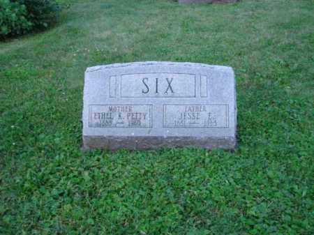 SIX, JESSE E. - Fairfield County, Ohio | JESSE E. SIX - Ohio Gravestone Photos