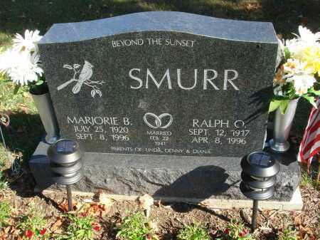SMURR, RALPH O. - Fairfield County, Ohio   RALPH O. SMURR - Ohio Gravestone Photos