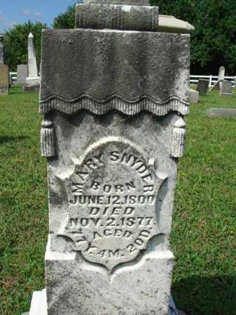 SNYDER, MARY - Fairfield County, Ohio | MARY SNYDER - Ohio Gravestone Photos