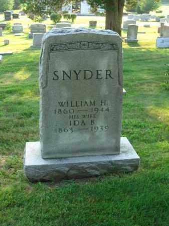 SNYDER, WILLIAM H. - Fairfield County, Ohio   WILLIAM H. SNYDER - Ohio Gravestone Photos
