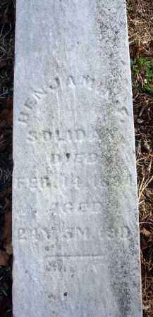 SOLIDAY, BENJAMIN F. - Fairfield County, Ohio | BENJAMIN F. SOLIDAY - Ohio Gravestone Photos