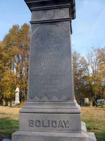 SOLIDAY, MARTHA - Fairfield County, Ohio | MARTHA SOLIDAY - Ohio Gravestone Photos